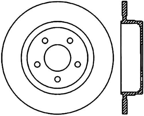 Disc Brake Rotor C Tek Standard Rear Centric Fits 03 05 Ford
