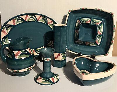 Vintage Gail Pittman Signed ( 6-Piece Set) Juniper Pattern Excellent Condition