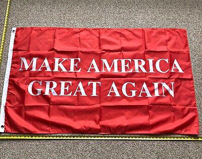 Donald Trump Flag FREE SHIPPING MAGA RED 3x5 Foot Digital Print Banner New (Digital Polyester Banner)