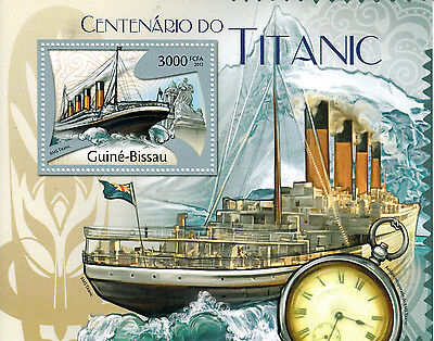 Guinea-Bissau 2012 MNH Titanic Cent Sinking 1v S/S Boats Ships Stamps