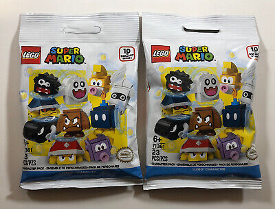 2 Lego Nintendo Super Mario Character Blind Bag Packs Lot SEALED New 71361