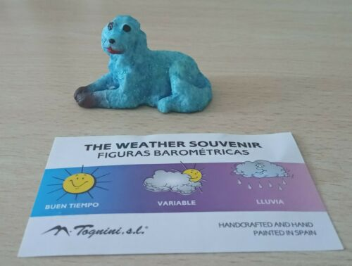 Miniature Dog barometric figure, change color with the weather.  New