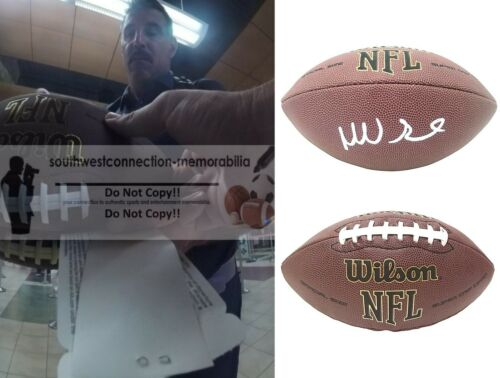 Mike Vrabel Patriots Signed NFL Football Titans Steelers Proof Autograph COA