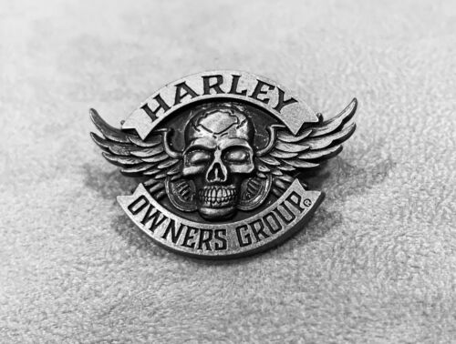 Winged Skull Pin ~ Harley Davidson Owners Group