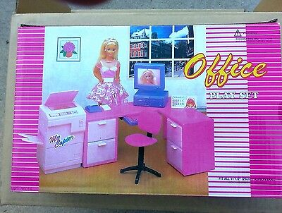 GLORIA DOLLHOUSE FURNITURE OFFICE Computer With Monitor PLAYSET FOR BARBIE