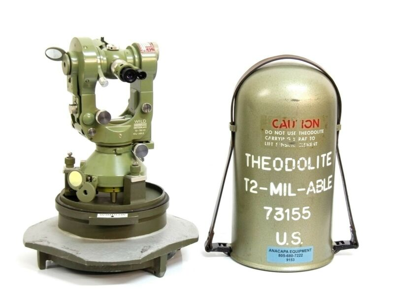 Wild Heerbrugg Theodolite T2 73155 Mil-Able Military Surveying Transit  9153