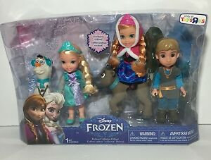 NEW-Disney-Frozen-6-034-Toddler-Deluxe-Collector-Gift-Set-ELSA-ANNA-KRISTOFF-Dolls