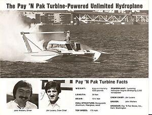 Pay 'N Pak Turbine Unlimited Hydroplane 8 1/2