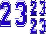 Helmet Number Decals