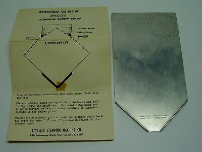 Kingsley Hot Foil Stamping Machine Napkin Board Instructions Antique Tool