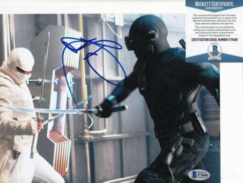 RAY PARK signed (G.I JOE) Snake Eyes Movie 8X10 photo BECKETT BAS V76481