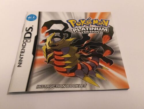 Pokemon Platinum Instruction Manual Booklet ONLY!! (DS) *US VERSION*