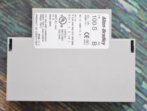 New Allen-Bradley 100-S Series B Auxiliary Contact 600VAC/ 10A/ 60947-5-1