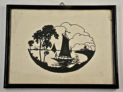 Adorable Original Paper Cutting, Framed Behind Glas, 25x19, 5 Cm. (ST18)