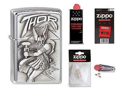 Thor Zubehör (ZIPPO Feuerzeug Wikinger Thor Emblem mit oder ohne Zubehör nach Wahl)