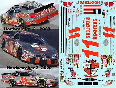 NASCAR DECAL #11 HOOTERS 2003 FORD TAURUS BRETT BODINE SLIXX - BRISTOL RACE