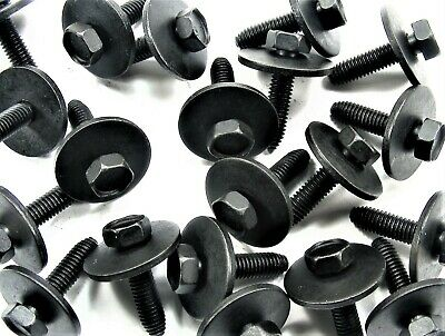 GM Body Bolts- M6-1.0 x 25mm Long- 10mm Hex- 24mm Washer- 60 bolts- #163S