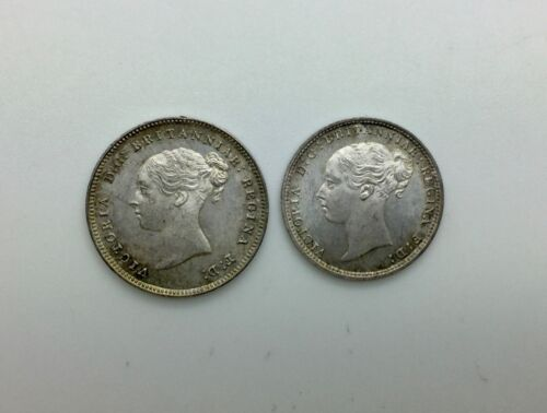 Great Britain 1880 Victoria Partial Maundy Set 3 Pence 4 Pence Nice Tone Choice