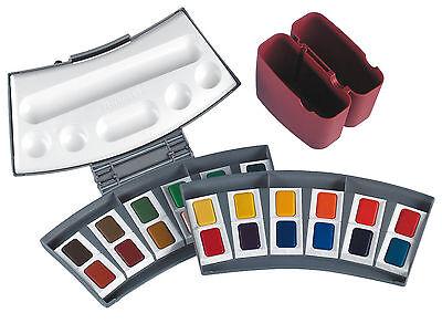 Pelikan 721894 Aquarell-Malkasten 725/24, Kunststoffkasten mit 24 Farben