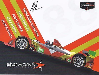 2017 IMSA Rolex 24 at Daytona STARWORKS #88 Motorsports Hero Card SIGNED
