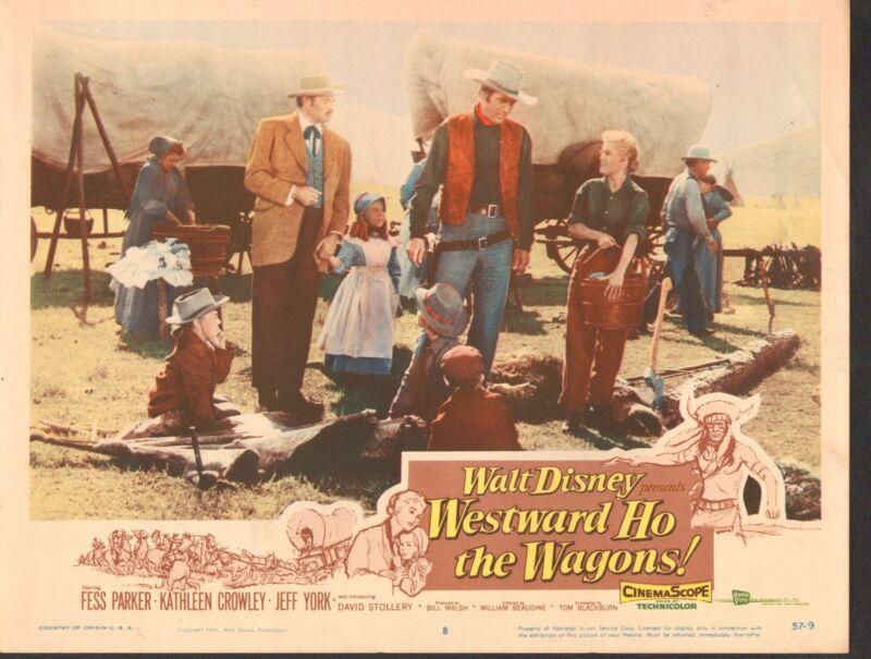 1957 MOVIE LOBBY CARD #2-632 - WESTWARD HO THE WAGONS - DISNEY
