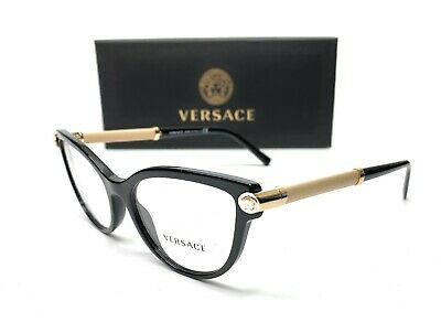 Versace VE3270Q 5299 Black Demo Lens Women Eyeglasses Frame 54-17