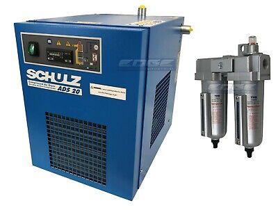 Best NEW SCHULZ 20 CFM REFRIGERATED COMPRESSED AIR COMPRESSOR DRYER 115V, COMPLETE KIT