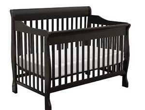 """Sleigh Bed"" Baby Crib (Convertable)"
