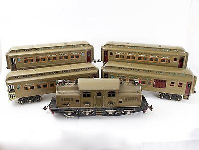 Lionel Prewar Standard 402 Engine + Passenger Set # 418, 419, 431 & 490