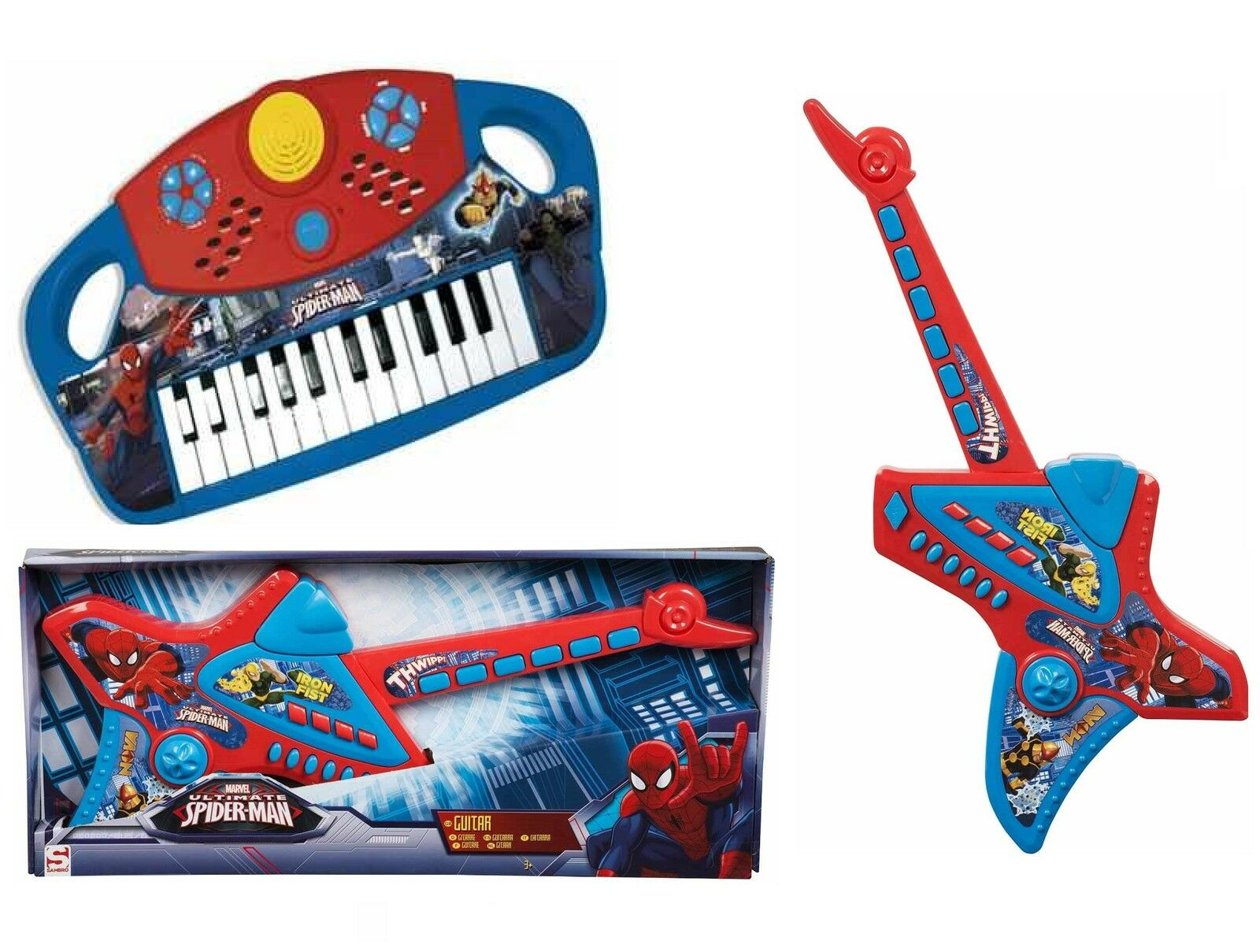Marvel Ultimate Spiderman Spider Man Electronic Guitar ...