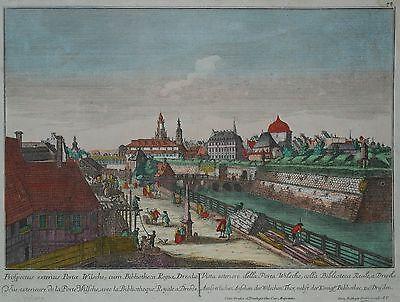 Dresden Guckkastenblatt - Wilsdruffer Tor - Von Probst nach Canaletto um 1770