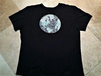 Nautica Short Sleeve Graphic Tee Shirt Cotton Black 2XL