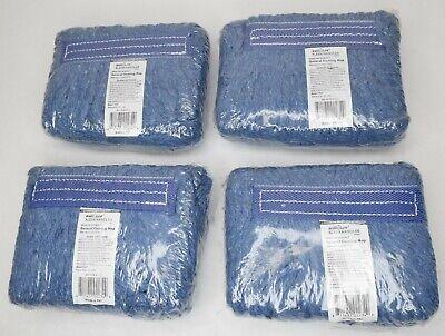 Lot Of 4 Bison Life Industrial Blue Wet Floor Mop Refills Bis-gcm-01-1