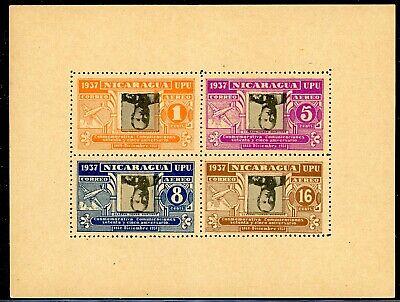 Nicaragua 75th Ann Postal Service Specialized: MAX #A235b 5c Viol INVERT $$$