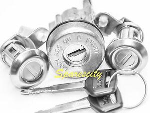 IGNITION BARREL 2 DOOR LOCK SET for TOYOTA LANDCRUISER HZJ 75 SERIES 8/91-1997