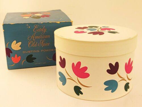 Vintage Shulton Early American Old Spice Dusting Powder 7oz ~ Unused in Box