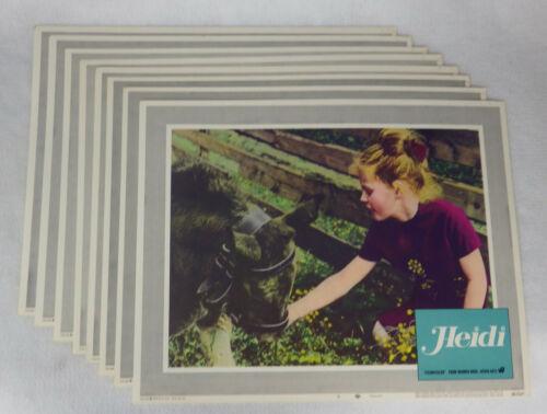 Vintage 1968 Heidi Lobby Card Photo Eva Maria Singhammer Gustav Knuth Lot Of 8