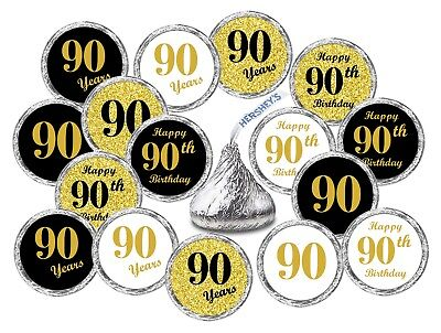 90th Birthday Kisses Labels Stickers Party Favors  (Set of 324)  - 90th Birthday Party