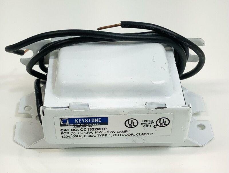 Keystone No. CC1322MTP Compact Flourescent Ballast~13 Watt Lamp- Type 1 Outdoor