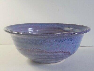 "Cliff Losee's Blue/Purple Serving Bowl 7"" Pigeon Hill Pottery Finksburg MD. FSBO"