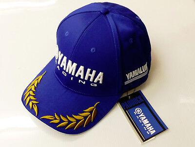 New Genuine Yamaha Baseball Cap Hat Adult Size Blue & Gold Trim Ref N18FH313W000