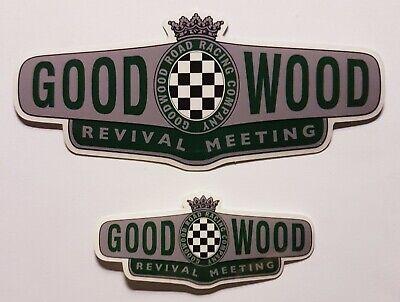 2x Goodwood Revival Vinyl Sticker suitable for indoor or outdoor use.