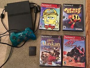 PLAYSTATION 2PLUS GAMES &MEMORY CARD