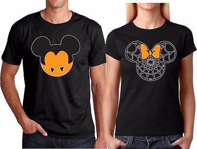 Mickey and Minnie Halloween Couple Funny Matching T-Shirts  - Mickey And Minnie Couple Halloween