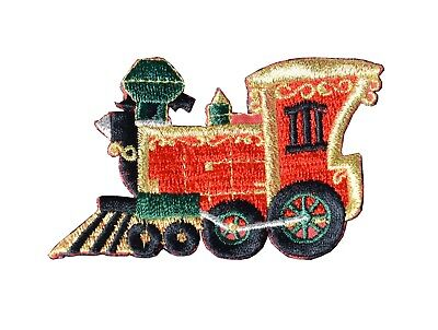 #3148 Christmas CHO CHO Train Embroidery Iron On Applique Patch ()