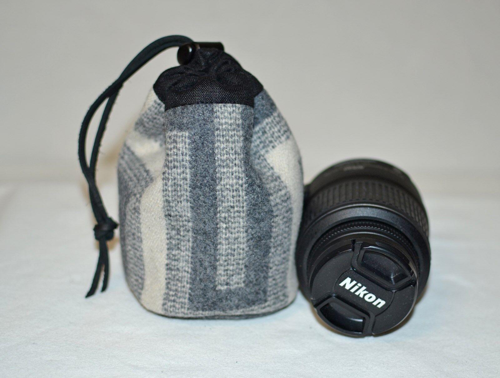 Camera Lens storage bag Drawstring Bag handmade San Miguel P