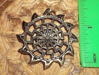 Ancient Scythian-Slavs Bronze Symbol of the Black Sun /Replica-Amulet #1