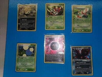 Lotto Carte Pokemon Ex Team Rocket's Return Rare e holo (dark metal energy stamp