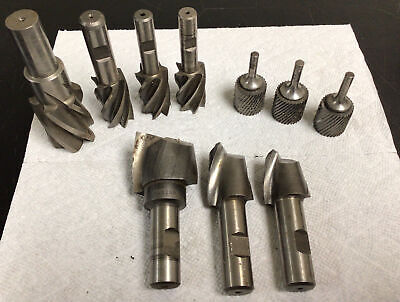 Lot Of 10 End Mill Cutters Assorted Shapes Sizes Brands