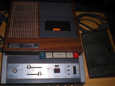 Sony Secutive Transcriber Bm 25-a Circa 1975 W Rare Foot Controller Vintage
